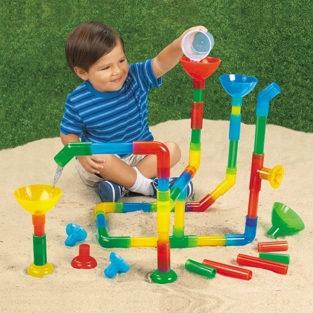 Water Game Toy : Fun tunnels and pipes set of waterways pipe builder